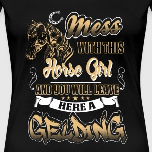 horse - mess with this horse girl - Women's Premium T-Shirt