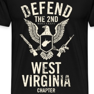 West virginia - Defend the 2nd Virginia chapter - Men's Premium T-Shirt