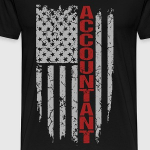 Accountant - Awesome flag t-shirt for accountant - Men's Premium T-Shirt