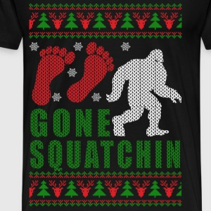 Bigfoot - Big foot gone squatchin Xmas sweater - Men's Premium T-Shirt