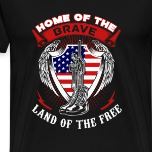 Captain America Home of the brave land of the free - Men's Premium T-Shirt