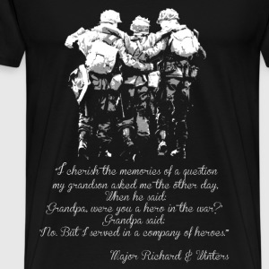 Military - I served in a company of heroes - Men's Premium T-Shirt