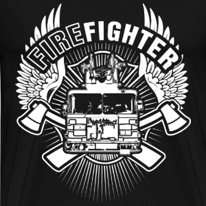 Firefighter - Freaking awesome firefighter t - shi - Men's Premium T-Shirt