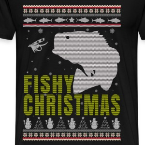 Fishing - Fishy christmas sweater for fishing love - Men's Premium T-Shirt