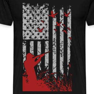 Hunter - Awesome american flag t-shirt for hunte - Men's Premium T-Shirt