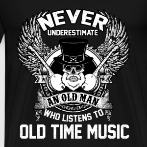 musician - An old man who listens to old music - Men's Premium T-Shirt