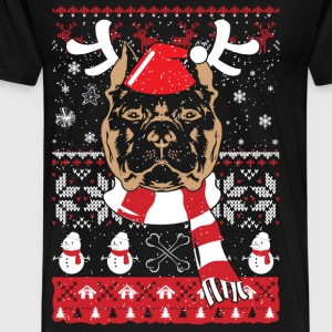 Pitbull - Christmas sweater for pitbull lovers - Men's Premium T-Shirt