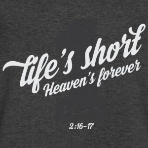 Life is short T-Shirts - Men's V-Neck T-Shirt by Canvas