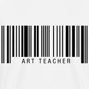 Art Teacher Barcode T-Shirts - Men's Premium T-Shirt