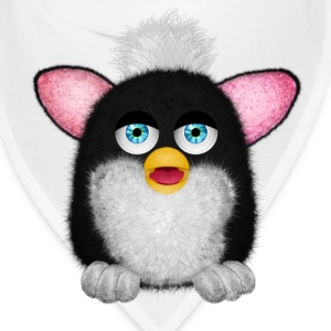 Furbie Black White Fluffy Caps - Bandana
