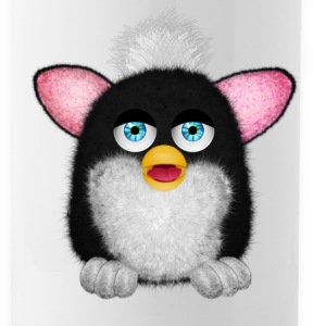 Furbie Black White Fluffy Sportswear - Water Bottle