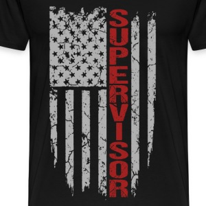 Supervisor - Awesome flag t-shirt for supervisor - Men's Premium T-Shirt