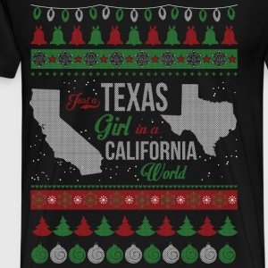 Texas girl - Christmas sweater for Texas girl - Men's Premium T-Shirt
