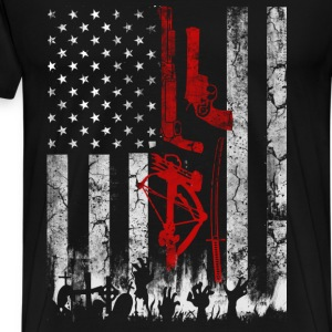 The walking dead - Flag t-shirt for american fan - Men's Premium T-Shirt