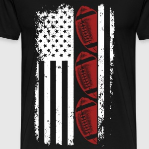 Usa Football - Football flag t-shirt for American - Men's Premium T-Shirt