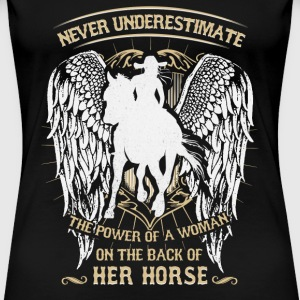 Horse riding - Power of a woman on the horse - Women's Premium T-Shirt