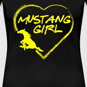 Mustang girl - Mustang girl's heart awesome tee - Women's Premium T-Shirt