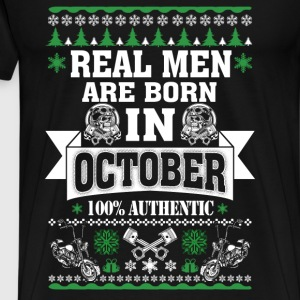 October - Real men are born in October t-shirt - Men's Premium T-Shirt