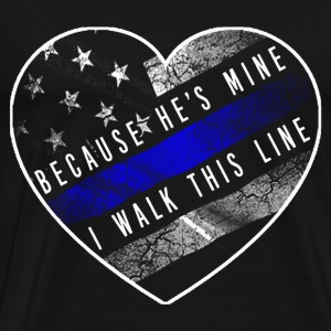 Police Officer - Thin blue line - Men's Premium T-Shirt