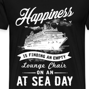 Sea day - Happiness is finding a lounge chair tee - Men's Premium T-Shirt