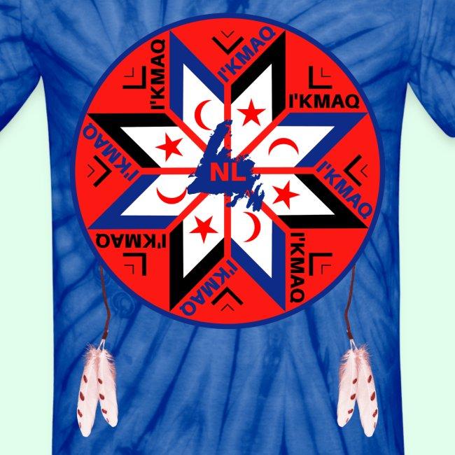 Newfieguy Mikmaq Tripartite Symbol Unisex Tie Dye T Shirt