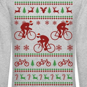 Cycling Christmas Long Sleeve Shirts - Crewneck Sweatshirt