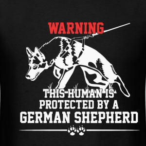 Warning - This human is protected... - Men's T-Shirt