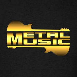 metal music gold - Men's T-Shirt