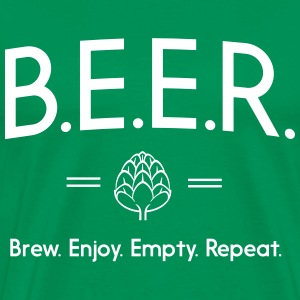 Beer. Brew, Enjoy, Empty, Repeat T-Shirts - Men's Premium T-Shirt