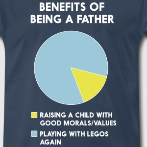 Benefits of being a father T-Shirts - Men's Premium T-Shirt