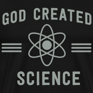 God Created Science T-Shirts - Men's Premium T-Shirt