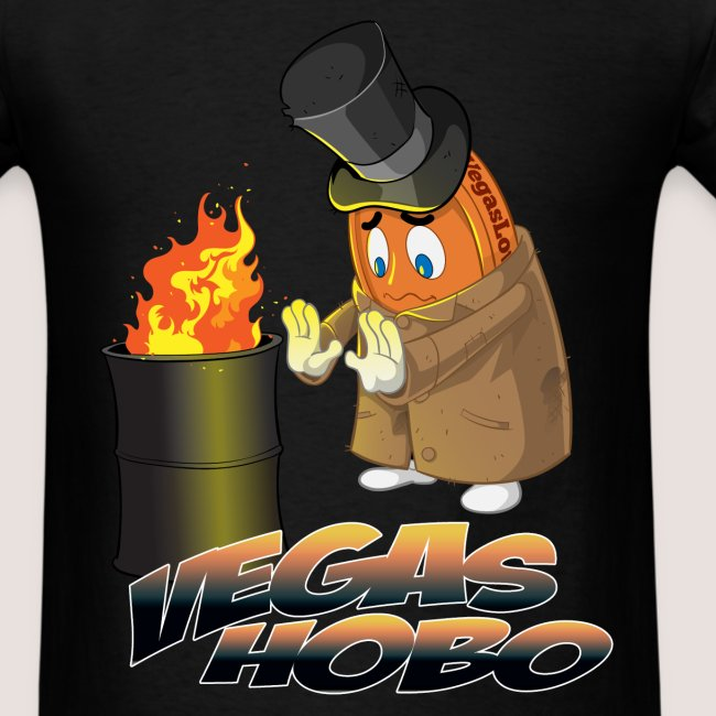 Men's Vegas Hobo Tee, w/ Text