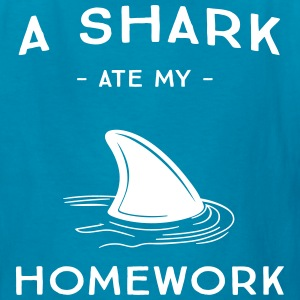 A Shark Ate My Homework Kids' Shirts - Kids' T-Shirt