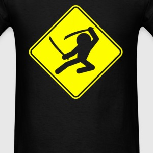 Ninja Crossing Sign - Men's T-Shirt