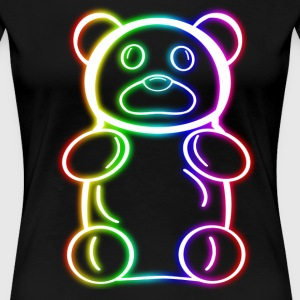 Neon Rainbow Gummy Bear - Women's Premium T-Shirt