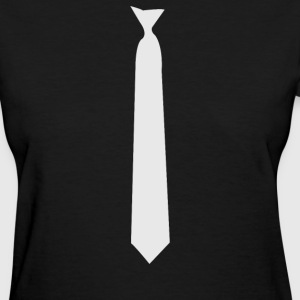 Skinny White Tie - Women's T-Shirt
