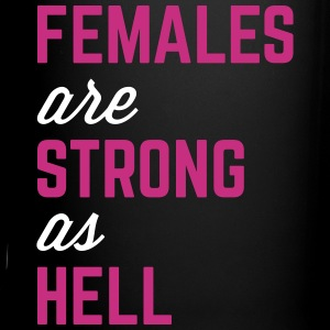 Females Strong Hell Gym Quote Mugs & Drinkware - Full Color Mug