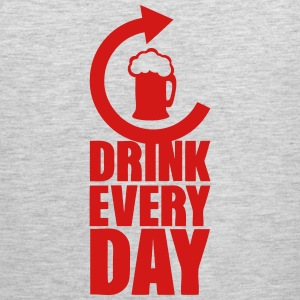 drink every day repeat alcohol beer Sportswear - Men's Premium Tank