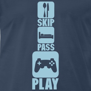 geek skip pass play games controller 3 T-Shirts - Men's Premium T-Shirt