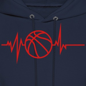 basketball drawn heart beat curve Hoodies - Men's Hoodie