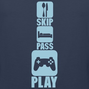geek skip pass play games controller 3 Sportswear - Men's Premium Tank