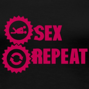 repeat sex love icon T-Shirts - Women's Premium T-Shirt