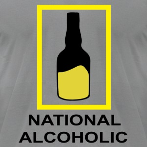National Alcoholic - Men's T-Shirt by American Apparel