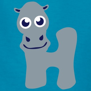hippo animal letter h Kids' Shirts - Kids' T-Shirt