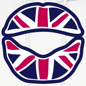 british union jack flag mouth lip Hoodies - Men's Hoodie