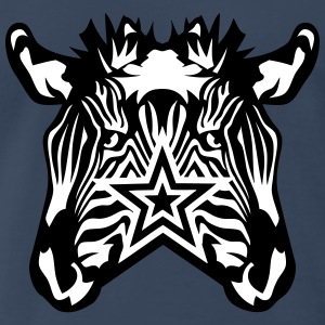 double star zebra T-Shirts - Men's Premium T-Shirt