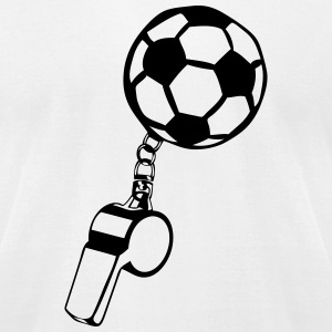 soccer referee whistle sports T-Shirts - Men's T-Shirt by American Apparel
