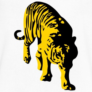 tiger T-Shirts - Men's V-Neck T-Shirt by Canvas