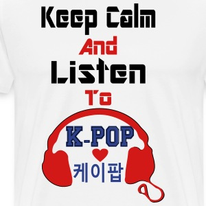 ♥♫Keep Calm&Listen to KPop Men's T-Shirt♪♥ - Men's Premium T-Shirt