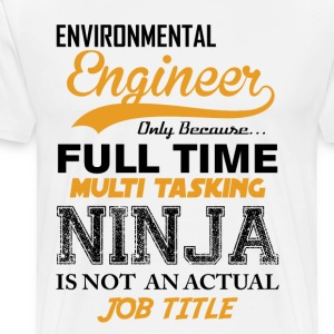 Engineer Ninja Job Title T-Shirts - Men's Premium T-Shirt